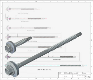 DrillFast® Stainless A4/316 fastener CAD drawings