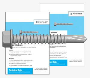 DrillFast&reg; A2/304 grade stainless steel fasteners <span>datasheets</span>