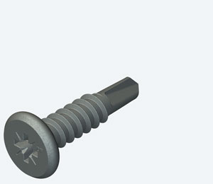 Carbon steel secret fix fasteners for steel 1.2 - 5.0mm thick