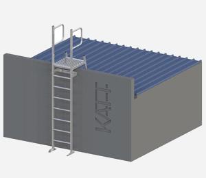 RL32 - Vertical access ladder with parapet <span>platform</span>