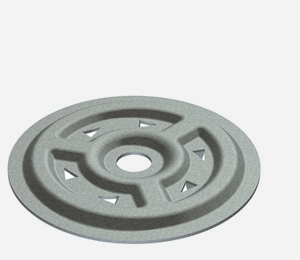 Spreader plates for insulation attachment