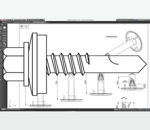 DrillFast carbon steel fastener CAD <span>drawings</span>