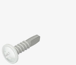 Carbon steel lacquered fasteners for internal clipfix and flashing application