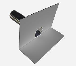 Parapet outlet - PVC light <span>grey</span>