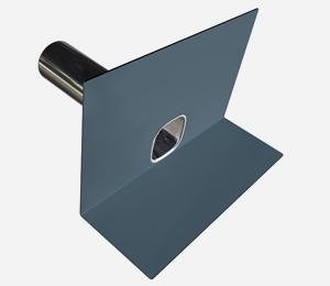 Parapet outlet - PVC dark <span>grey</span>