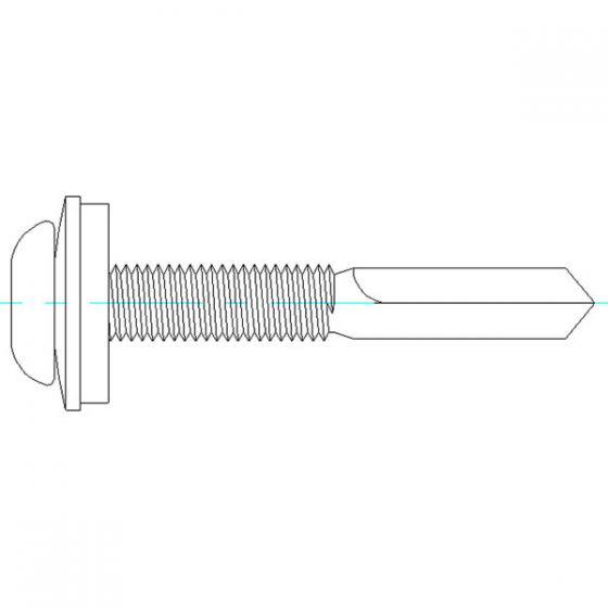 DrillFast® Stainless low profile mainfix fastener, S15 washer
