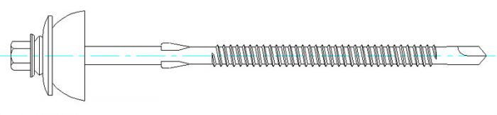 DrillFast® Stainless fibre cement sheeting fastener
