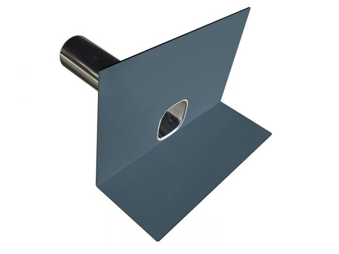 Parapet outlet - PVC dark grey with 400mm spigot