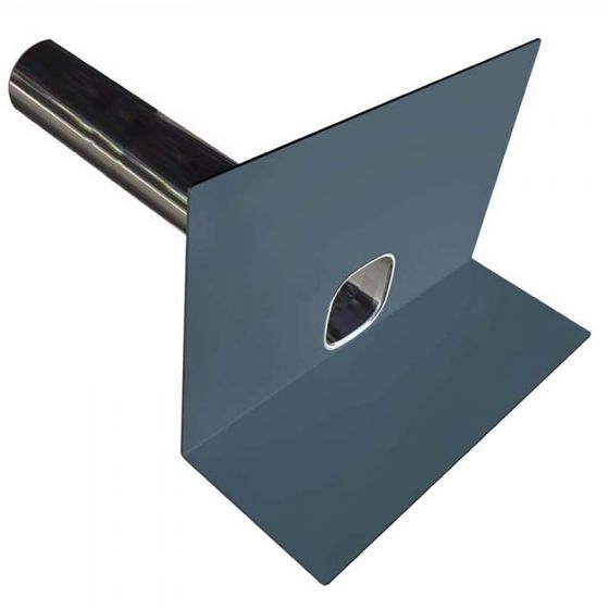 FarBo® parapet outlet - PVC dark grey with 600mm spigot