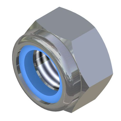 Nyloc BZP Hex Nuts