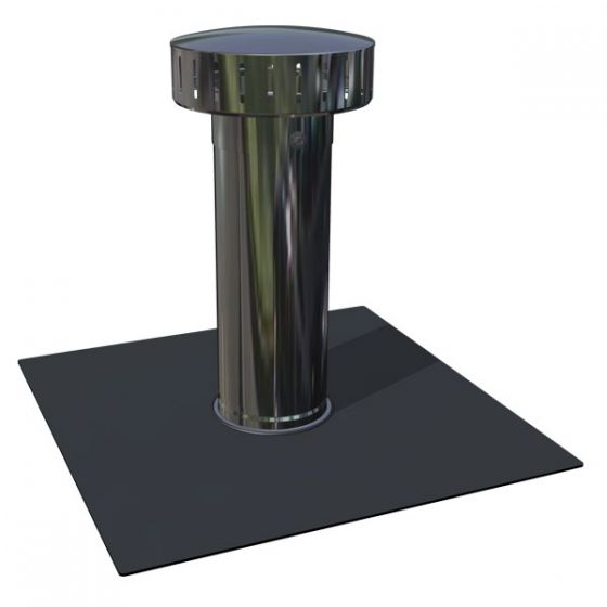 RyMar® vent with dark grey PVC membrane attachment