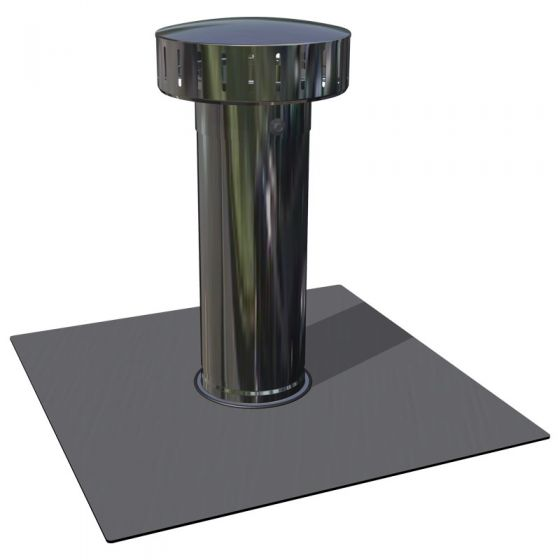 RyMar® vent with light grey PVC membrane attachment