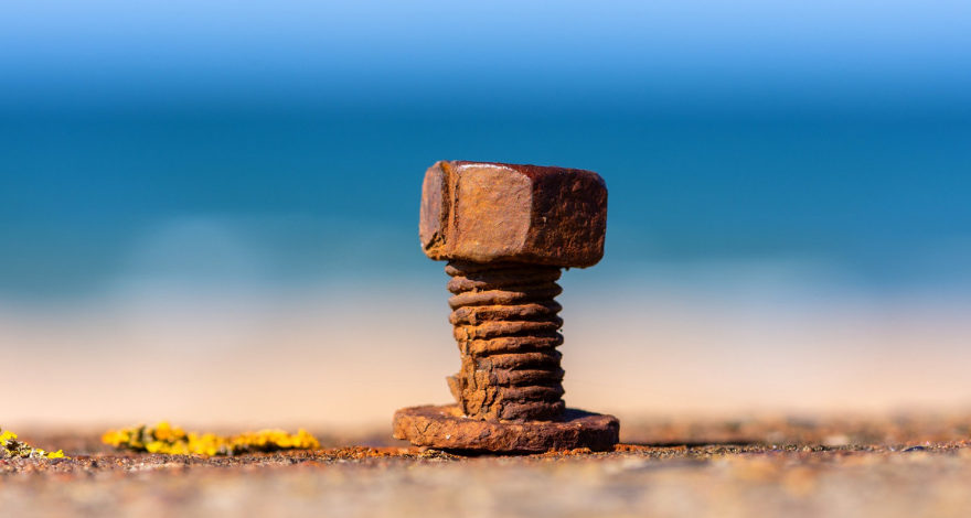 a rusty screw