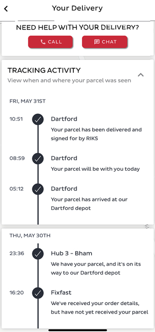 Manage your deliveries
